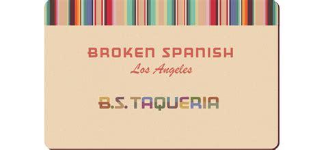 Gift Card Spanish - gift cards broken spanish