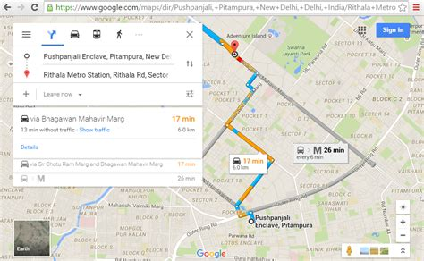 googel maps directions maps api v3 how show the direction from a point a