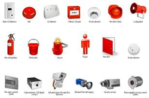 safety and security fire safety equipment vector