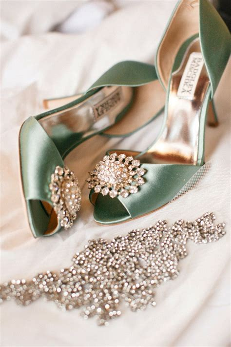 beautiful green satin wedding shoes pictures   images  facebook tumblr pinterest