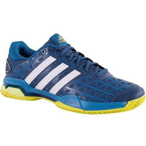adidas barricade club s tennis shoe blue yellow