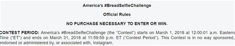 Enter Contests To Win Money - america s bread selfie challenge instagram contest enter to win 10 000 cash