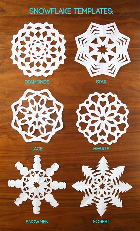 Cut Paper Craft - how to cut snowflakes tutorial free templates