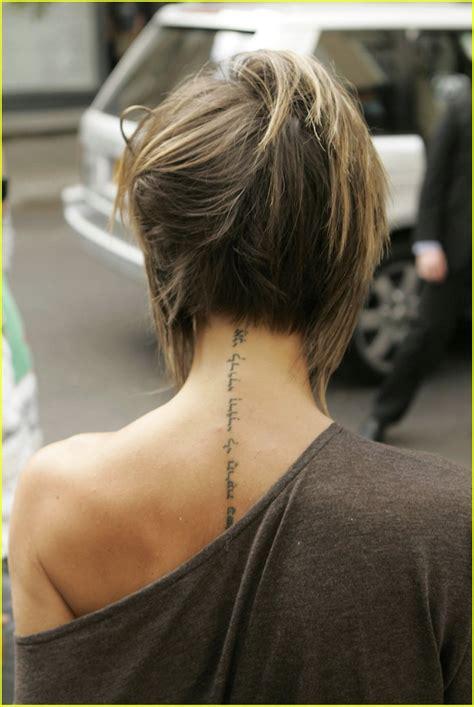 victoria beckham tattoo artist posh s neck tattoo photo 273611 david beckham victoria