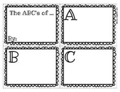 free printable alphabet book template teaching ela abc order on pinterest