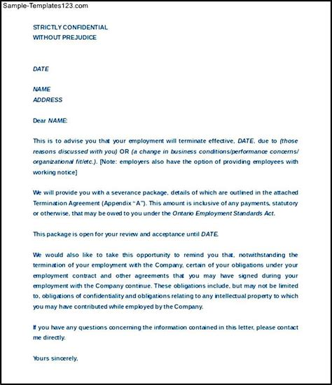 Termination Of Employment Contract Letter Pdf Sle Termination Agreement Between Company Employee Format Sle Templates