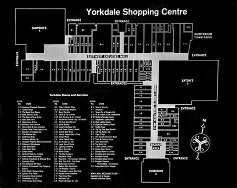 yorkdale mall floor plan what yorkdale looked like in the 1960s and 70s