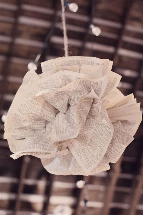 diy wedding ideas vintage paper puff decorations