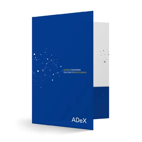 company folder template folder design adex engineering corporate folders