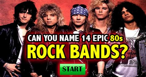 80s Bands by Quizfreak Can You Name 14 Epic 80s Rock Bands