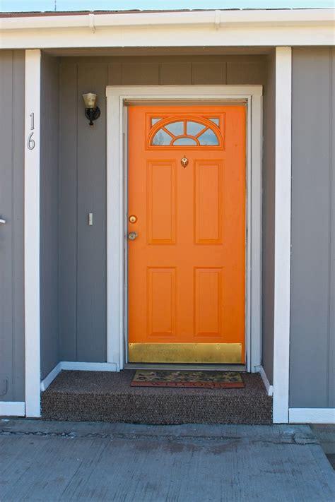 orange front door my orange door crafts pinterest