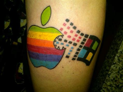 check   radical tattoo  young apple fan   tribute   uncle image cult  mac