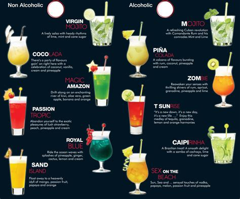 cocktail drinks menu cocktail card design recherche google drinks
