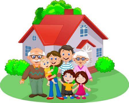 imagenes animadas familia familia feliz de dibujos animados vector de stock