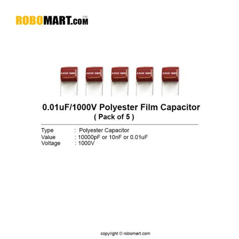 capacitor code for 0 01uf 0 01uf 1000v polyester capacitor india