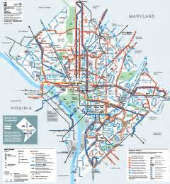 Dc Metro Map Pdf by Metrobus Map Washington Dc