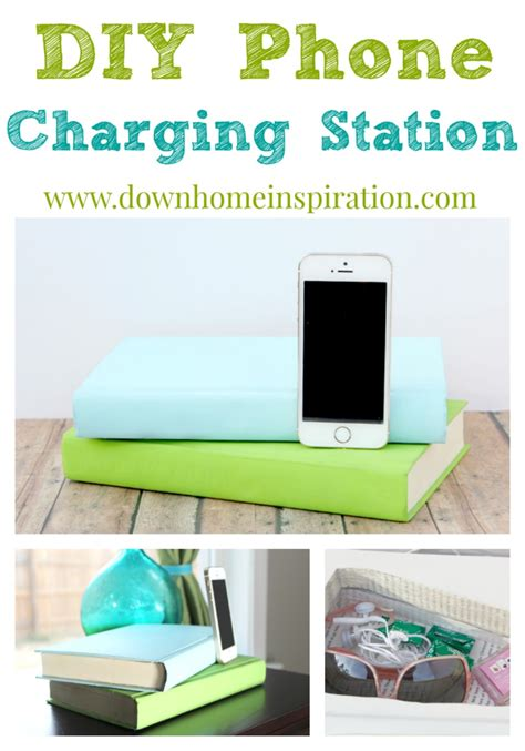 diy wireless phone charging station diy phone charging station disguised as books down home