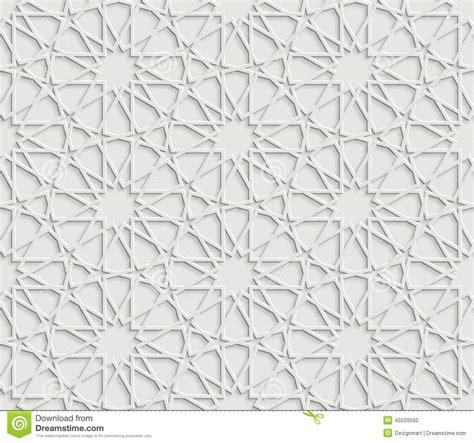 islamic pattern map islamic star pattern on white background stock