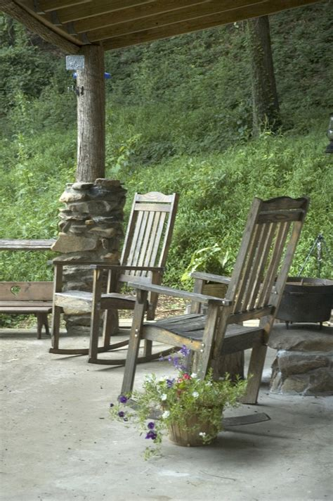 log cabin porch log cabin porch rock your worries away pinterest
