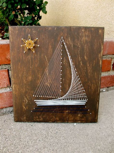 String Sailboat - nautical sailboat string as a present for a bachelor