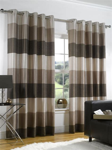 brown and cream striped curtains 20 best ideas about brown eyelet curtains on pinterest