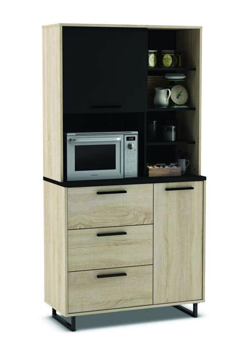 mobili per cucinino mobile buffet quot indus quot colore rovere e nero 90x39 7x179