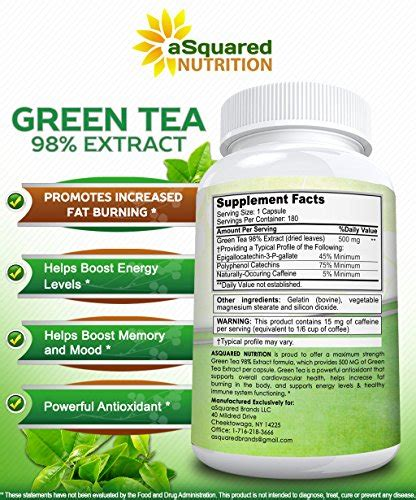 Green Tea Extract Detox by Green Tea Extract Supplement With Egcg 180 Capsules