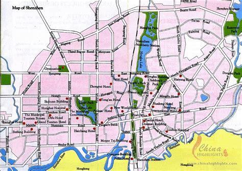shenzhen map tourist attractions shenzhen map tourist attractions shenzhen maps detailed