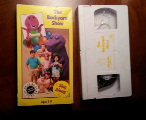barney the backyard show vhs barney the backyard show vhs 1988 vintage original rare ebay