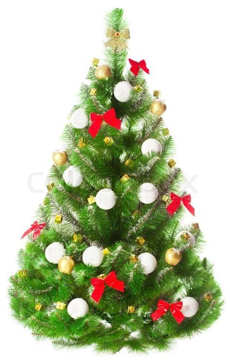 elegant christmas tree on a white background decorated