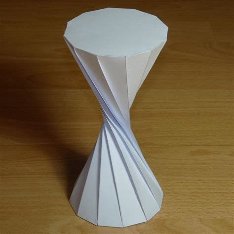 Origami Rectangular Prism - paper twisted dodecagonal prisms