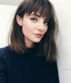 lob hair with side fringe best 25 bob bangs ideas on pinterest bangs short hair
