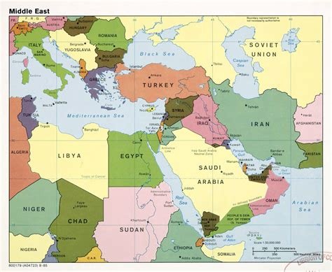 middle east city map large detailed political map of the middle east with major