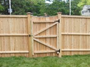 wood privacy fence gate fence ideas