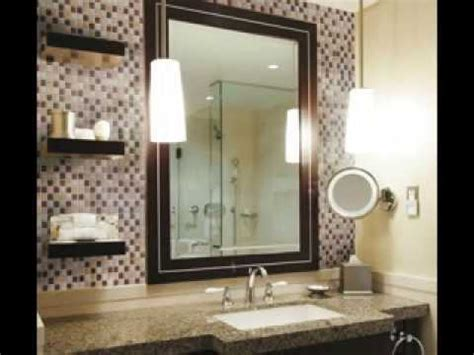 Diy Bathroom Mirror Frame Ideas by Bathroom Vanity Backsplash Ideas Youtube