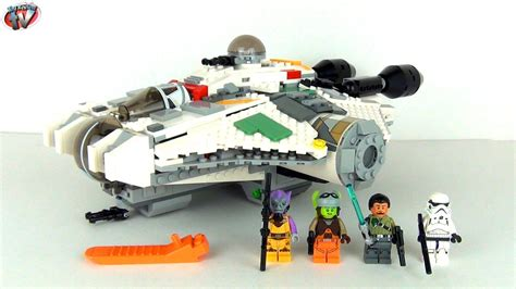 sw ghost boat lego star wars the ghost 75053 toy review unboxing youtube