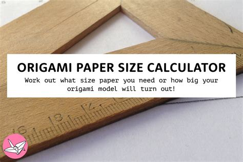 Origami Calculator - origami size choice image craft decoration ideas