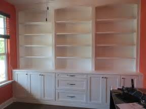 Built In Bookshelves And Cabinets Custom Home Office Built In Shelves And Cabinets Borders