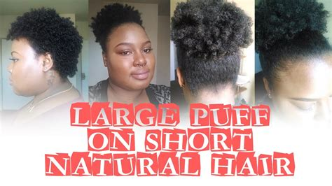 how to put clips in short natural african american hair large puff on short natural hair youtube