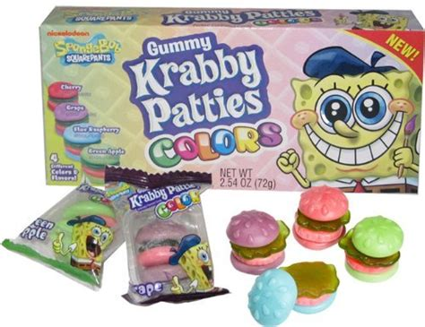 spongebob colored patties gummy krabby patties colors at mighty ape nz