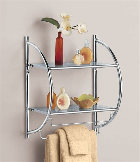 chrome bathroom shelf chrome bathroom shelf with towel bars in bathroom shelves