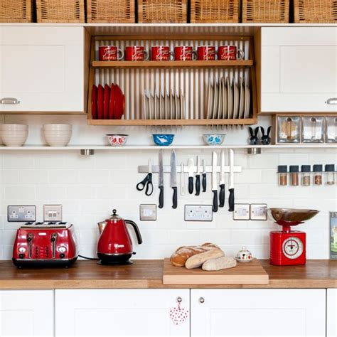 kitchen decorating ideas with red accents white kitchen with red accents housetohome co uk