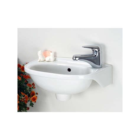 Small Porcelain Sink by Signature Hardware Tina Small Porcelain Wall Hung Sink Ebay