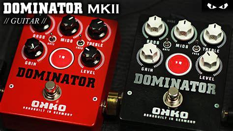 Dominator Mkii Okko Pedal okko fx dominator mkii distortion black guitar demo
