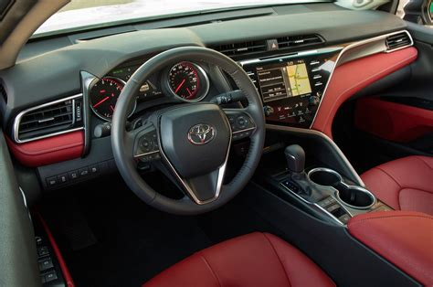interior camry 2018 2018 toyota camry first test review big improvement but