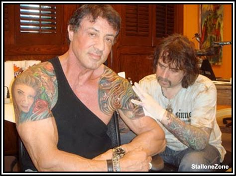 does sylvester stallone have tattoos sylvester stallone gets his bodybuilding