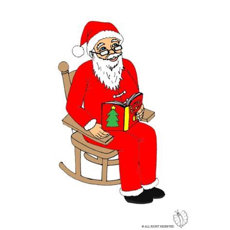 sulla sedia disegno di babbo natale sulla sedia a colori per bambini