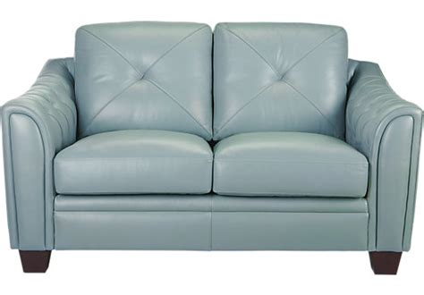 Blue Leather Loveseat Home Marcella Spa Blue Leather Loveseat