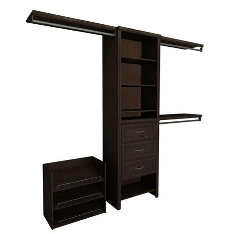 Closetmaid Shelf System Closetmaid Impressions 5 Ft 10 Ft Chocolate Brown