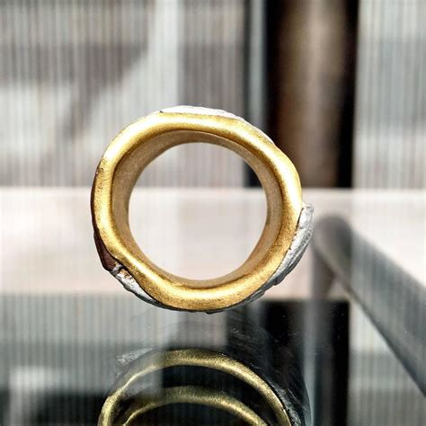 five multicolored gold silver copper mokumegane